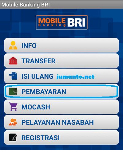 bayar iuran bpjs lewat mobile banking bri