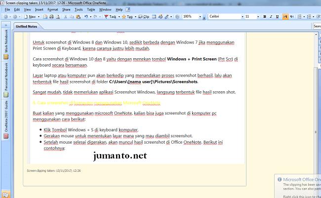 cara screenshot pada laptop