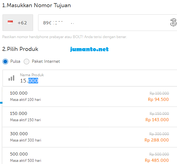 beli pulsa di traveloka